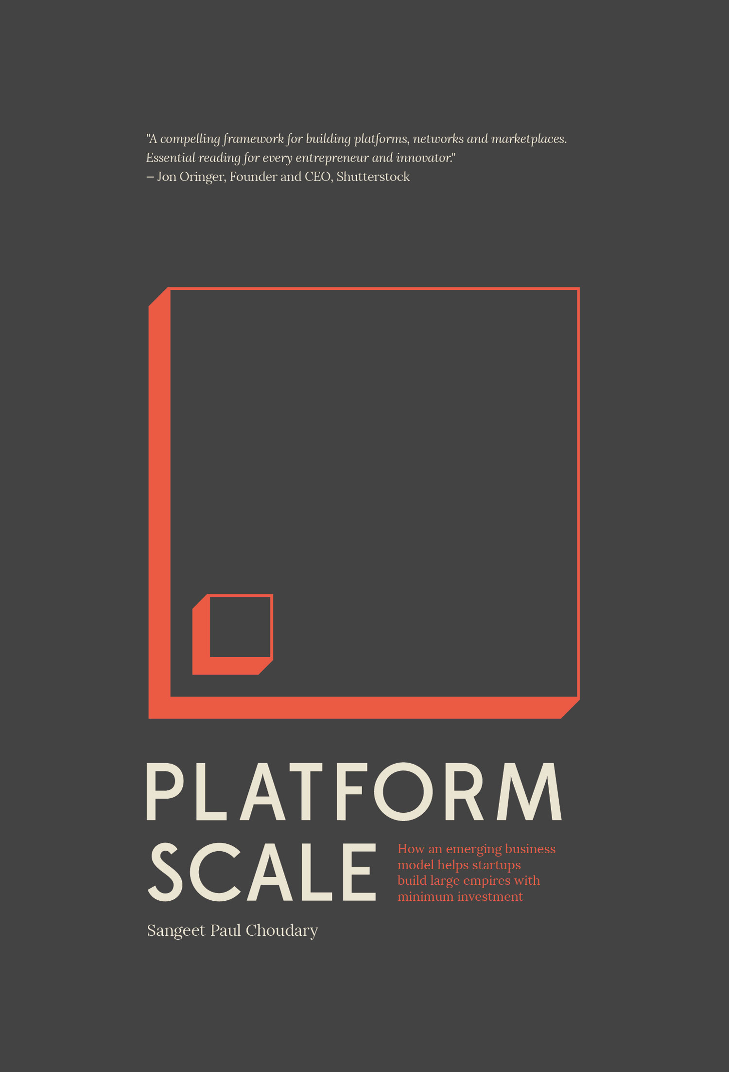Capa do livro Platform Scale do Sangeet Paul Choudary