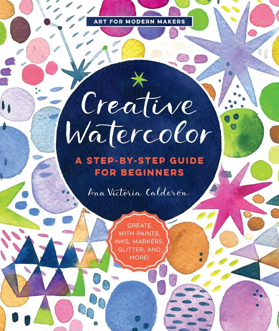 Creative Watercolor book review. This book is overflowing with amazing creative ideas and projects, watercolor techniques and lettering tutorials.